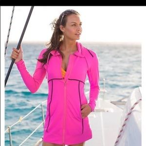 Athleta Coverup Swimsuit Or Workout Pink Small